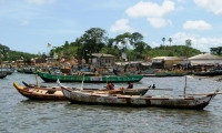 The fishing village of Dixove, in Ghana.