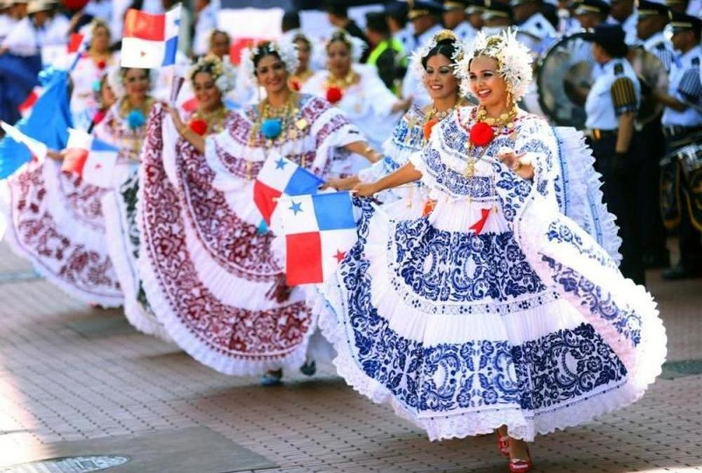 """""""Pollera"""" is a traditional costume of Panama worn by women."""