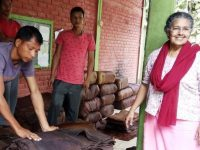 India. Sister Rose and the Rubber cultivation