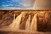 The Augrabies Falls on the Orange River, in South Africa.