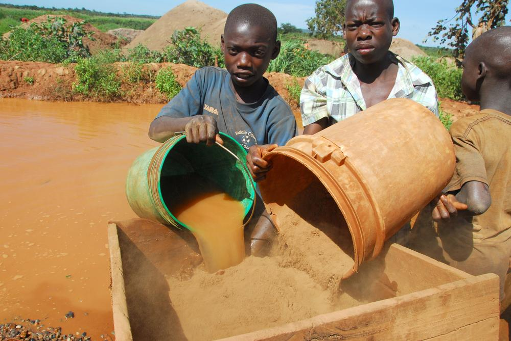 Children as young as eight years old are working in Tanzanian small-scale gold mines.
