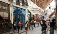 Calle Obispo, Old Havana's main street artery, packed with art galleries, shops and restaurants.