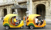 Havana's famous coco-taxis.
