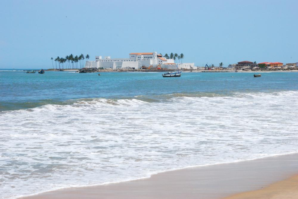 The Elmina Castle was built by the Portuguese in 1482. It is the oldest European building in existence below the Sahara.