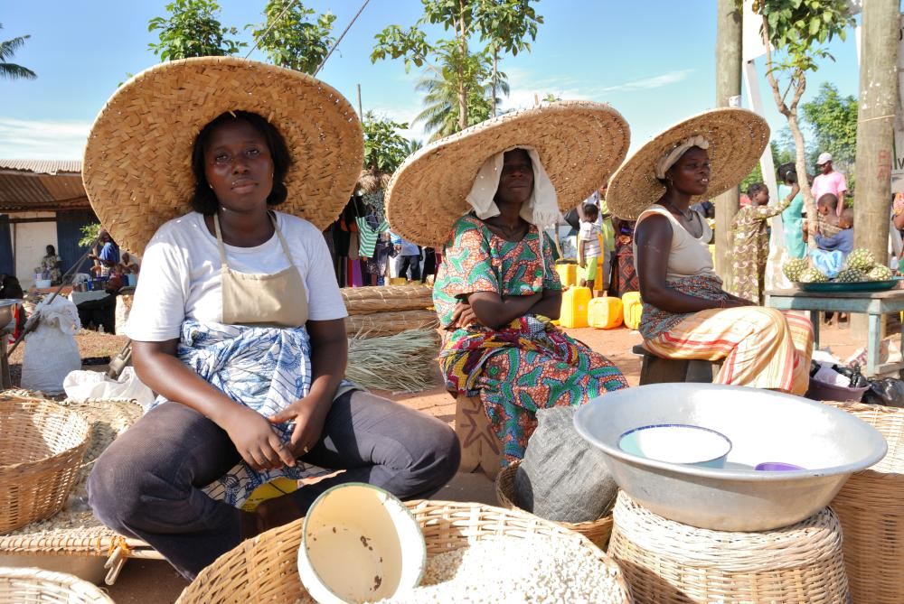 Market. Women are the real protagonists of a market. Everything passes through their hands.