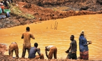 More than 100,000 miners work in the Ituri region.