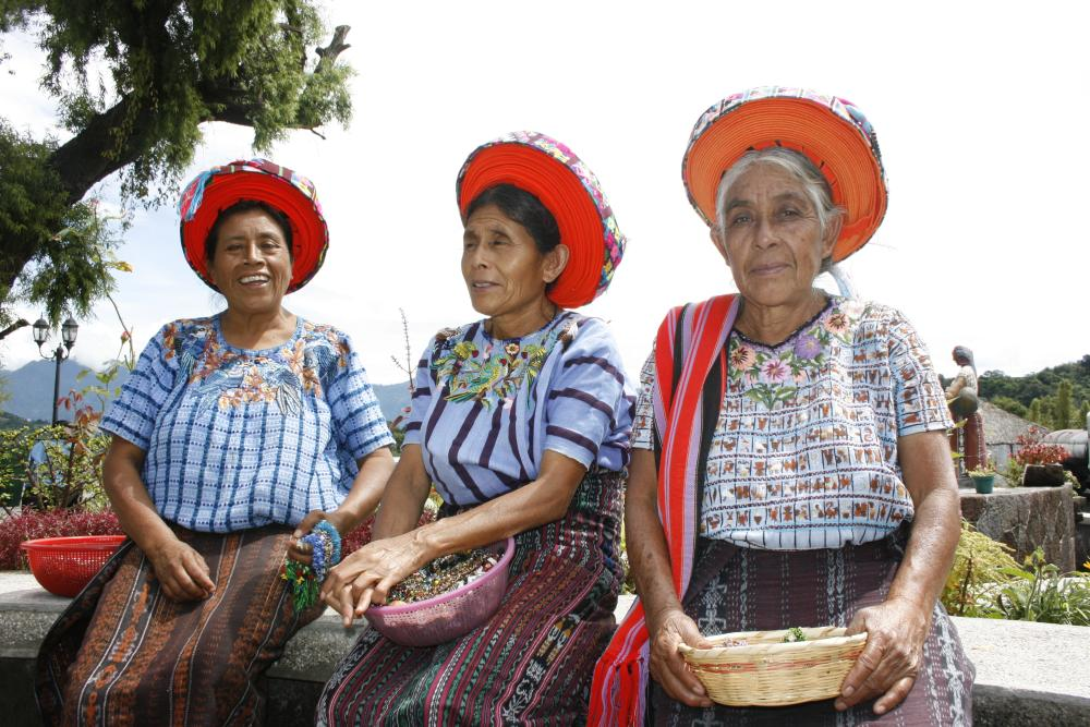 The colours and designs of the clothes reflect the origins, myths, knowledge and philosophy of the Mayan people