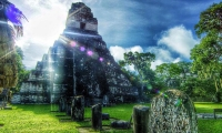 Ruins of Tikal, the ancient capital of the Mayan people