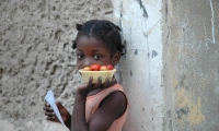 Little girl. Macua build the largest ethnic group.