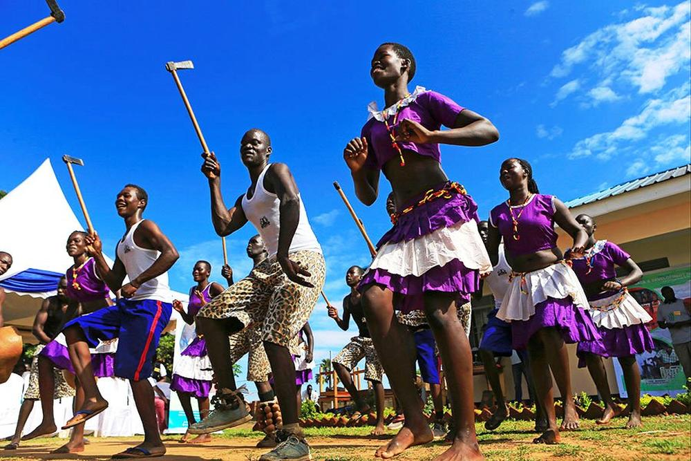 Acholi traditional dancers, Uganda.
