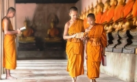 Thai Buddhist novices monks.