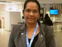 Sr. Justine. Lobbying and Advocacy at the UN.