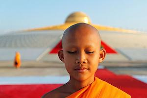 The Buddhist Monks. Moments